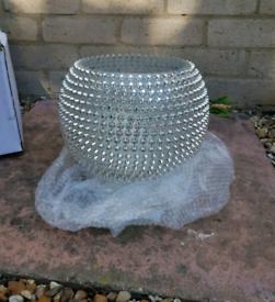 Large Studded vase silver