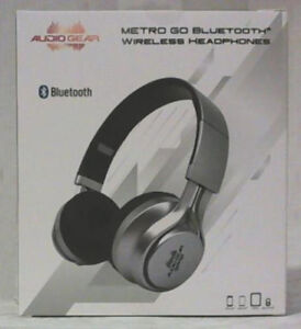 New Audio Gear Metro Go Bluetooth Wireless Silver Headphones