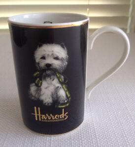 HARROD'S KNIGHTSBRIDE -Dogs Coffee Cup Mug Made in England