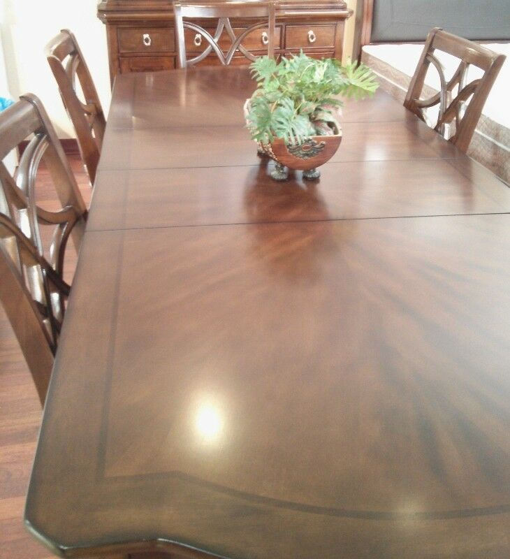 Large Solid Wood Dining Table Chairs Not Included