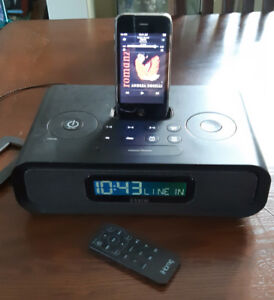 Stereo radio +iPhone, iHome with charger FM+AM antenna $35
