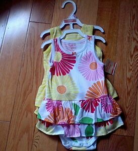 Carter's Brand Baby Girl Dresses w/Attached Diaper Covers *NEW!*