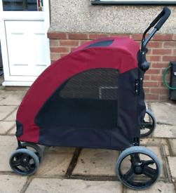 PawHut dog stroller/walker for larger dogs - red