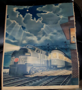 New York Central lithograph prints  by Leslie Ragan