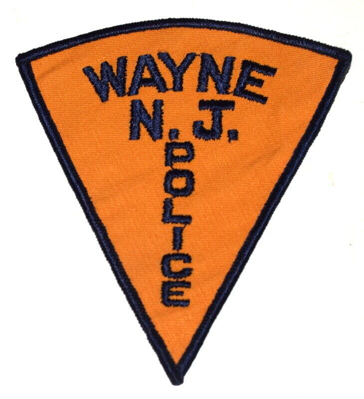 WAYNE NEW JERSEY NJ Sheriff Police Patch PIE SHAPE VINTAGE OLD MESH ~