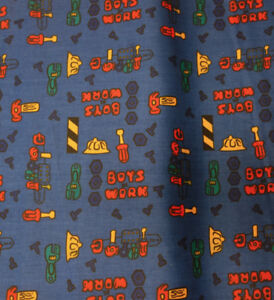 Bolt of Boys Tools Upholstery Sewing Fabric
