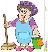 Femme de menage à lasalle, 15$ de l'hrs, 3 fois 1hrs par semaine