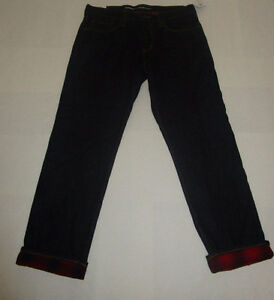 Old Navy men's dark wash lined denim jeans Size 28 x 30 inches London Ontario image 1
