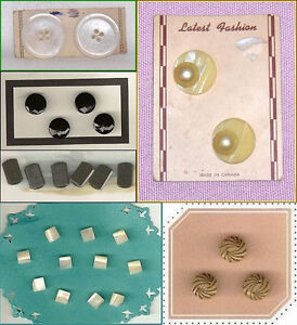 Vintage Buttons  Mixed Lot of  Mother of Pearl, Glass, Plastic