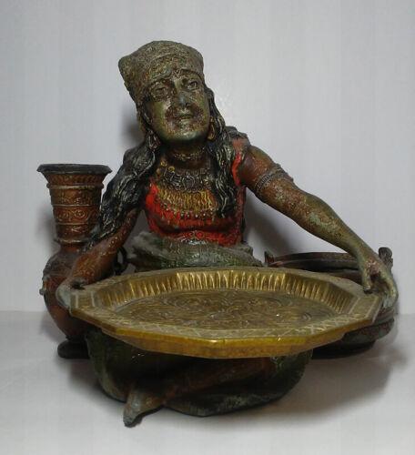 Antique Decorative Arts Gypsy Cold Painted Smoking Set