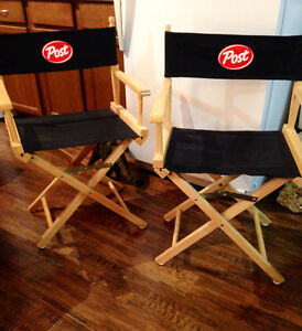 Brand new, never used canvas and wood directors chairs Cambridge Kitchener Area image 1