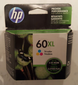 HP 60XL TRICOLOR PRINTER INK - BRAND NEW