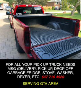 PICK UP TRUCK AVAILABLE FOR DELIVERY SERVICES