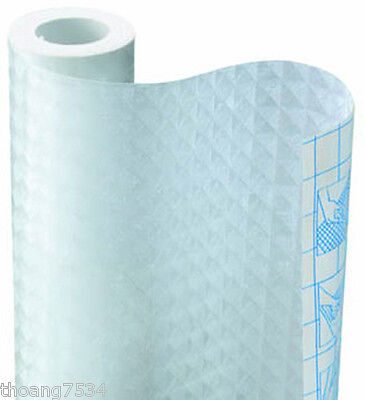 FROSTED Diamond Grid Frosty Vinyl Contact Paper Shelf Drawer Liner Peel & Stick