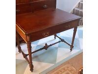 Antique Edwardian Desk Hall Table, Lovely Condition Possibly Mahogany?