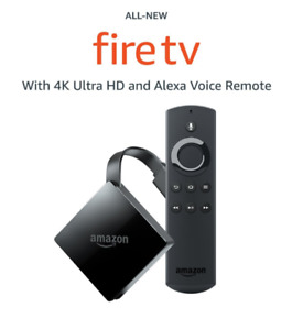 AMAZON Fire TV All-New 4K Ultra HD-Alexa Voice Remote, Stream TV