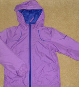 COLUMBIA - Girls Size 7/8 Lightweight Hooded Jacket - LIKE NEW