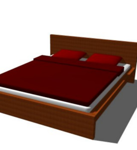Ikea Malm Queen sized brown bed frame - like new