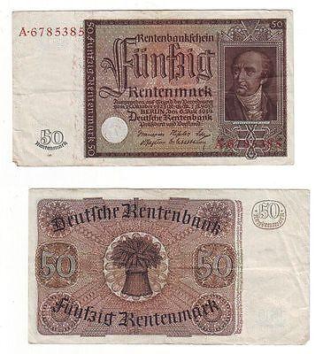 Banknote 50 Rentenmark Dt. Reich 6.7.1934 Rosenberg 165 (BN6971)