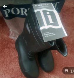 New Wellington boots Portwest size 8 Black Steel Toe