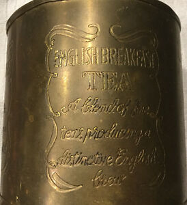 Brass English Breakfast Tea container  Best Offer London Ontario image 1