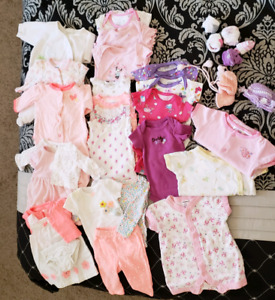 Newborn and 0-3m baby girls clothes