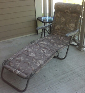 Sturdy Outdoor Lounge Chair (fabric & metal) reduced price