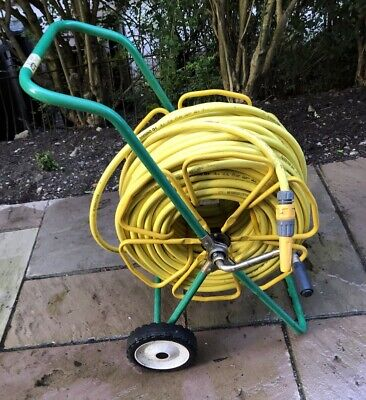 96m garden hose on professional wheeled stand with all fittings - Torsino Q+