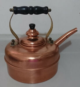 "Vintage ""SIMPLEX"" Solid Copper Whistling Tea Kettle"