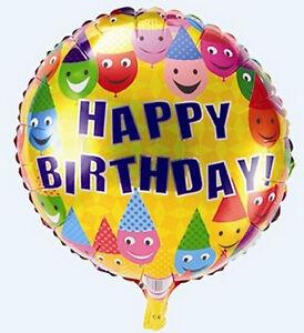 baby kids children smile happy birthday party decor foil 18 balloon ebay. Black Bedroom Furniture Sets. Home Design Ideas