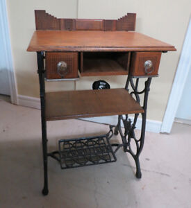 Table created from New Williams treadle sewing machine table