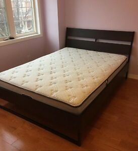 99% NEW Queen size Sleep Country Mattresses + 90% NEW IKEA Bed