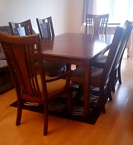 Dining set - large table with chairs - Best Offer Gatineau Ottawa / Gatineau Area image 1