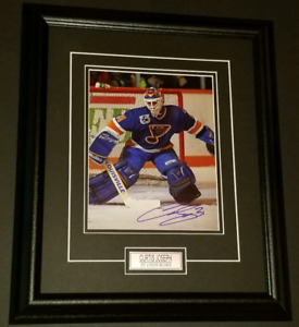 Curtis Joseph Autographed Framed St Louis Blues Photo