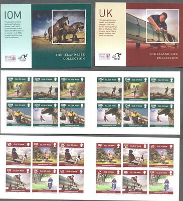 Isle of Man-Island Life self-adhesive set of 2 booklets mnh