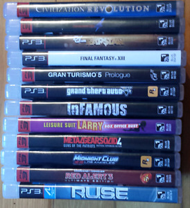 Jeux Sony Playstation 3 games...