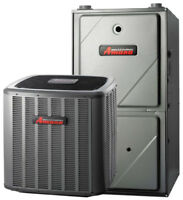AMANA furnace with central air conditioner package $4400