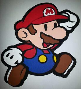 Mario & Luigi Nintendo Handmade Wooden Wall Decoration