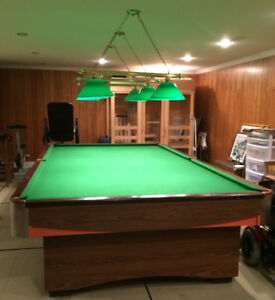 Lightning (over pool table)