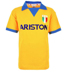 Juventus Ariston gold 1984 - TOFFS luxury retro jersey - new
