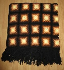 Wool Hand Crocheted Throw Blanket Kitchener / Waterloo Kitchener Area image 1