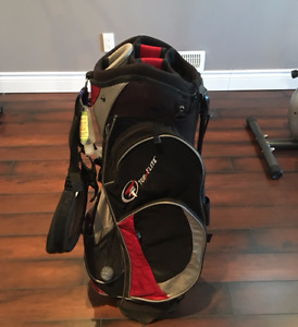 Top Flite Stand Bag - Black/Red