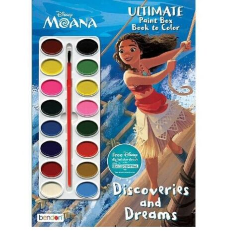 Moana Ultimate Paint Box & Color Book
