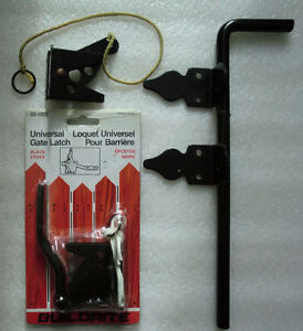 Gate Latch and Non-Adjustable Throw Cane Bolt