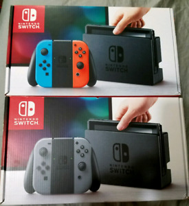 New Nintendo Switch Neon or Grey
