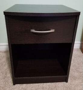 Mainstays 1-Drawer Nightstand - End Table, Espresso