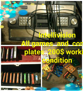 Intellivision & 10+games with controller pages