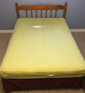 Double bed, boxspring, mattress, headboard and frame