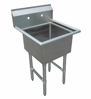 One 1 Compartment Sink Size Bowl 15 X 15 18 X 18commercial - Nsf Approved