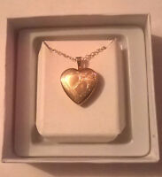 10K Gold Heart Pendant and Chain
